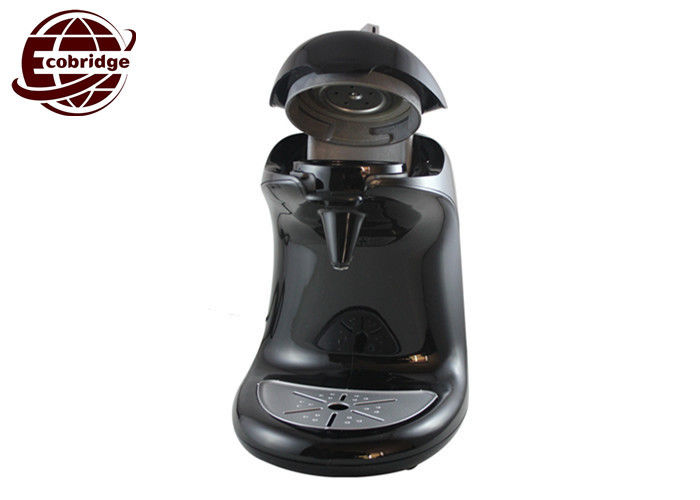 Black White Mini Espresso Coffee Machine , 0.9L 2.5Bar 60mm Pod Coffee Maker